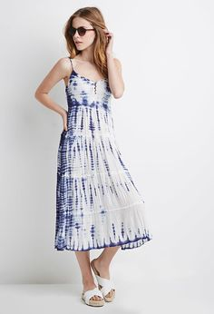 8d8ee051a9e Forever 21 Tie-dye Midi Dress on ShopStyle Types Of Fashion Styles