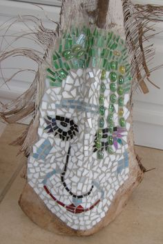 love creating masks with glass