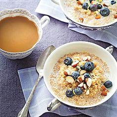 Lemon-Blueberry Quinoa Porridge - 15 Quick and Easy Quinoa Recipes - Health Mobile