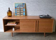 Kasse Credenza / TV Stand Solid Cherry by STORnewyork on Etsy