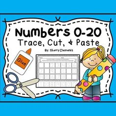Numbers+0-20+Trace,+Cut,+and+PasteThis+20+page+pack+requires+students+to+trace+the+numbers+0-20+on+each+page.+Then,+students+will+cut+out+the+seven+missing+numbers+on+each+page+and+glue+them+to+the+correct+space+to+correctly+sequence+numbers+0-20.+Each+page+also+includes+small+animal+graphics+at+the+top+of+each+page+for+fun.