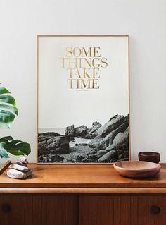 some things take time #print #art #midcentury #homedecor #interiordesign