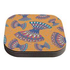 KESS InHouse Tribal Fun Abstract Coaster Color:
