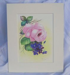 Limited Edition Fine Art  Rose With Violets by BonnieLouLane   #etsymnttaod