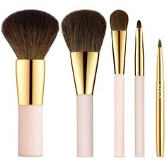 AERIN Brush Essentials (€140) ❤ liked on Polyvore featuring beauty products, makeup, makeup tools, makeup brushes, beauty, fillers, cosmetics and brushes