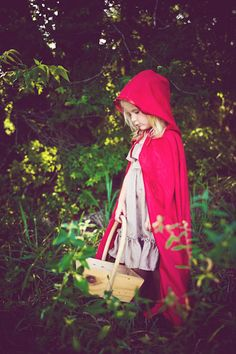 Little Red Riding Hood theme kids photo shoot