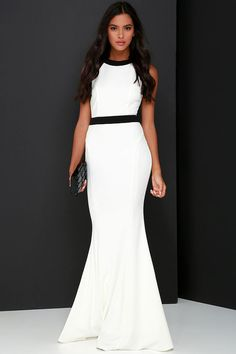 You're My Thrill Black and Ivory Maxi Dress at Lulus.com!