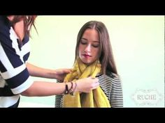 Scarf Maven: How to tie a Scarf @Katelyn Turnbull this totally made me think of you. But you probably already know these. :)