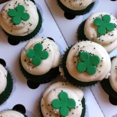 Red velvet cupcakes died green for Colby's St. Patrick's day Bachelorette party