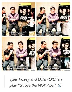 I'm sorry, what was that Dylan? You've licked Tyler Hoechlin's abs?? ;) well well..