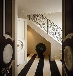 Dorothy Draper Doors, floor and stairway . . .