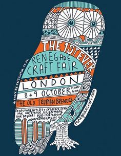 FUN POSTER :: The day is finally here, the Renegade Craft Fair is hopping the Pond! We couldn't be more excited that our first-ever Renegade Craft Fair London. Design Graphique, Art Graphique, Graphic Design Illustration, Illustration Art, Feather Illustration, Book Illustrations, Renegade Craft Fair, Craft Markets, Design Blog