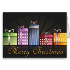 Merry Christmas Gifts Cards by Graphic Allusions. #christmas