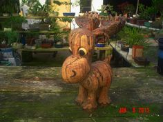 Hand Carved Whimsical/Caricature Baby Moose - Ambrosia Maple - Art of William A. Haight $899.00 USD