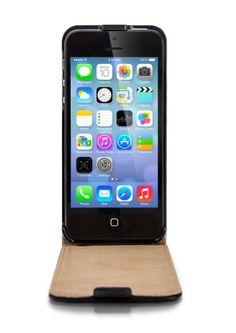 Mobiletto Flipcase iPhone 5 Ledertasche - Schwarz