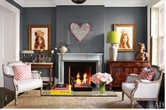 Love the Decor of Brooke Shields' Living Room. Source:Architectural Digest