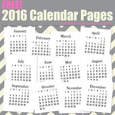 This free digital stamp calendar is available for you to download and use in your digital scrapbooking, digital stamping and other digital crafts. You can also print the calendar and use it in your traditional crafting projects.