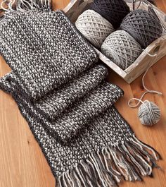 Ravelry: Faux-Woven Scarf pattern by Nancy van Hof