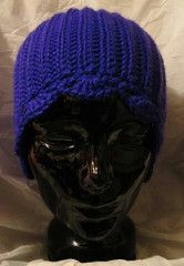 Beanie Ribbed in Bright Blue