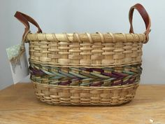 Handwoven Storage Basket for Knitting and by HookandWeaveDesigns