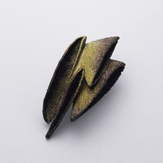 Heejoo Kim. Brooch: Yellow Night, 2016. Enameled copper. 6 x 4.5 x 12 cm. From series: Lunar blossom.