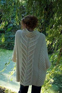 13b63dd5f3693 PDF Knitting Pattern Cape Country by bimblenmooch on Etsy Knitted Poncho