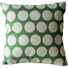 Modern Green Dot Decorative Pillow Cover - CAD $ 17.85