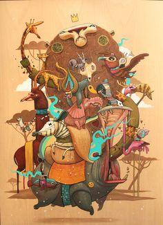 Une nouvelle sélection des superbes créations de l'illustrateur et street artist espagnol Antonio Segura Donat, aka Dulk, qui nous entraine dans un univers c