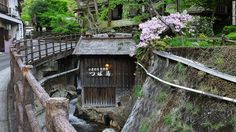 Yunomine Onsen is one of the oldest hot springs in Japan. Onsen water is used for everything from public cooking in a pot next to the river to a sauna in the hotel.
