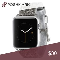 Case-mate sparkle Apple Watch band 38mm Brand new! Retails $40, buckle closure, great for a dressier day! *THIRD PHOTO IS MY PERSONAL BAND TO SHOW HOW IT LOOKS. Listing does NOT come with Actual Apple Watch...listing is for just the band* case-mate Accessories Watches