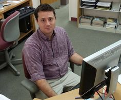 John's our newest staff member - a literature expert who puts it to use answering questions at the Reference Desk -