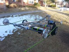DIY Cable Cam-It's a twin-rope supported trolley/carriage that is radio controlled and can suspend a GoPro and gimbal for aerial footage in tight spaces.