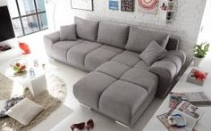 New Ecksofa Couch Schlafcouch Schlafsofa Funktionssofa ausziehbar anthrazit 289 cm Sofas. offers on top store Sleeper Couch, Sofa Bed Size, Sofa Couch Bed, Anton, Angles, Tout Rose, Canapé Angle Convertible, Beige Sofa, Home Theater Design