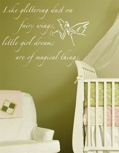 Love this 'Like glittering dust on fairy wings, little girl dreams are of magical things' for a baby girls nursery or toddler bedroom! Modern Nursery Decor, Nursery Themes, Nursery Ideas, Bedroom Ideas, Fairy Nursery Theme, Fairy Bedroom, Girls Bedroom, Leyla Rose, Layout Design