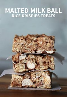 ... Malted Milk Ball Rice Krispies Treats® to make this tasty treat for