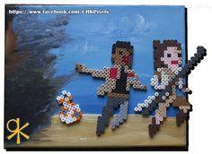 Star Wars: The Force Awakens Bead Art perler beads by CrK Pixels