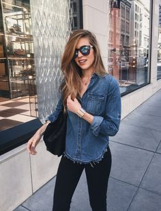 Look camisa jeans Adrette Outfits, Preppy Outfits, Casual Fall Outfits, Western Outfits, College Outfits, Stylish Outfits, Fashion Outfits, Preppy Mode, Preppy Style