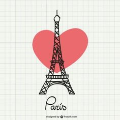 Eiffel Tower drawing with heart Vector Torre Eiffel Vector, Paris Torre Eiffel, Eiffel Tower Drawing, Eiffel Tower Art, Paris Party, Paris Theme, Springtime In Paris, Paris Wallpaper, I Love Paris