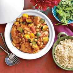 Chicken and Chickpea Stew Recipe | Epicurious.com #protein #myplate