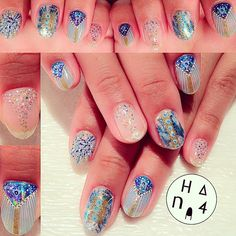 #stardust #nailart  #shiny #beach #Hana4