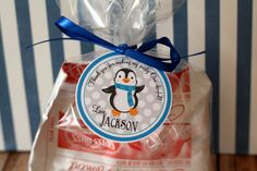 Penguin Winter ONEderland Favor Tags by thelovelyapple