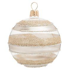 Pallina natalizia dorata in vetro 7 cm GRAPHIQUE   - Venduto x 6