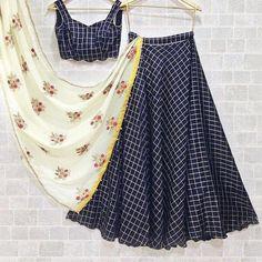 Designer lehenga, nevi blue lehenga, readymade blouse, lehenga choli for women, . Dress Indian Style, Indian Dresses, Indian Outfits, Pakistani Outfits, Indian Clothes, Indian Attire, Western Dresses, Blue Lehenga, Lehenga Choli