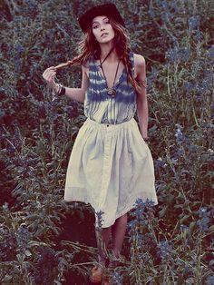 Levis Skies of Blue Buttondown Skirt
