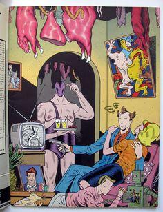 RAW Magazine Vol 1 #8 KAZ Gary Panter Jimbo MAUS 1986. Art Spiegelman, Love And Rockets, Anton, Children's Comics, Graphic Novel Art, Ligne Claire, Arte Popular, Vintage Comics, Comic Artist