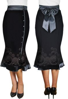Button-down Skirt  by Amber Middaugh --- Save 37% at ChicStar.com --Coupon: AMBER37
