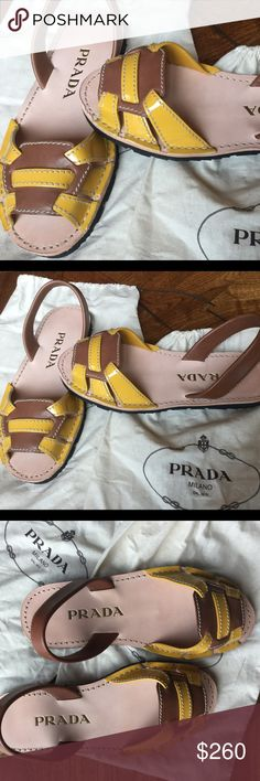 Prada sandals These are fantastic Prada sandals I bought in Italy. Sadly they don't fit worn once. Like new. Prada Shoes Sandals