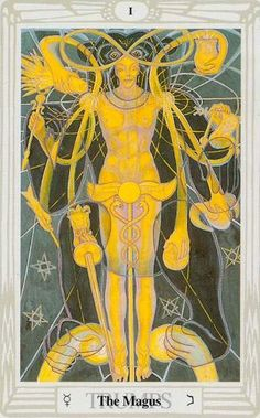 tarot de Thoth     painted by Lady Frieda Harris according to instructions from Aleister Crowley.