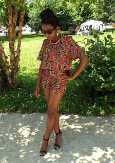 Crop top and shorts set ~African Prints, Ankara, kitenge, African women dresses, African fashion styles, African men fashion, Nigerian style, Ghanaian fashion ~DKK