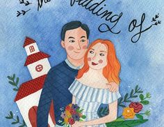 """Check out new work on my @Behance portfolio: """"Wedding invitation illustrated"""" http://be.net/gallery/59707193/Wedding-invitation-illustrated"""